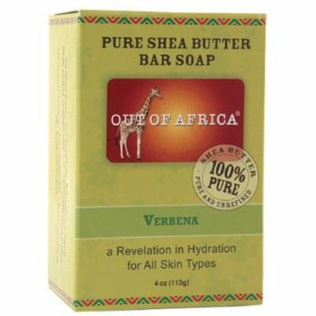 Out Of Africa Pure Shea Butter Bar Soap, Verbena 4 oz (Pack of 4)