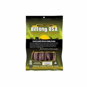 Biltong USA Grass Fed Droewors Beef Sticks, Spicy Mild Flavor, 4oz Pack