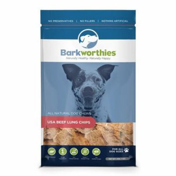 Barkworthies USA Beef Lung Chips Flavor Digestible Dog Chew Natural Treats 7 oz