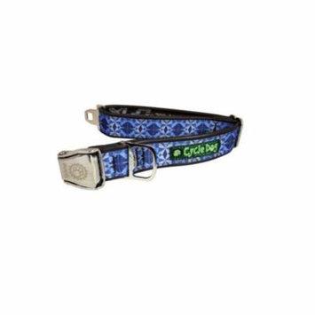 Cycle Dog Collar Kaleidoscope Buckle Metal Bottle Opener Blue Regular Large