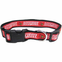 Pets First College Louisville Cardinals Pet Collar, 3 Sizes Available, Sports Fan Dog Collar