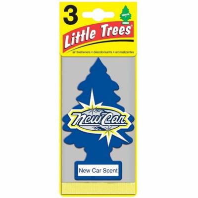 Little Trees Car Air Freshener, New Car Scent 3 ea (Pack of 6)