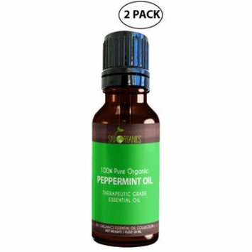 Best Peppermint Essential Oil By Sky Organics-100% Organic, Peppermint Oil, Diffusers, Aromatherapy, Massage, Allergies, Headaches & Bath 1oz (2 Pack)