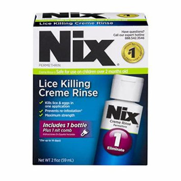 5 Pack Nix Lice Killing Crème Rinse Lice Treatment 2oz Each