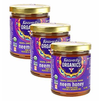 Heavenly Organics USDA Certified 100% Organic Raw Honey, 12oz (Neem, 3)