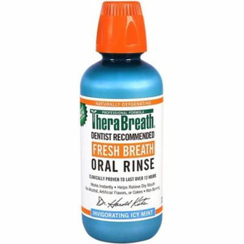 TheraBreath Fresh Breath Oral Rinse, Ice Mint 16 oz (Pack of 3)