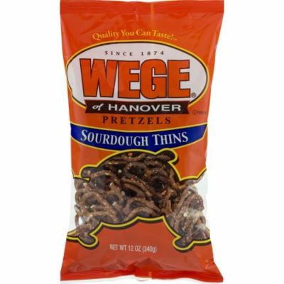 Wege of Hanover Sourdough Pretzel Thins - 12 Oz. (3 Bags)
