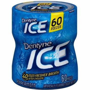 Dentyne Ice Sugar-Free Gum, Peppermint, 4 pack (60ct per pack) 1 ea (Pack of 3)