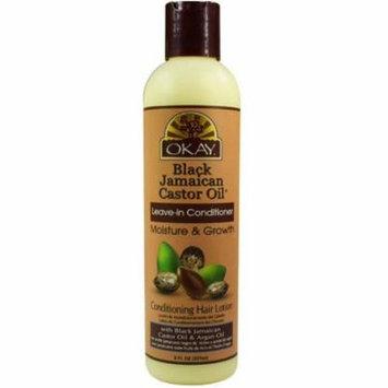 Okay Black Jamaican Castor Oil Leave-In Conditioner 8 oz (Pack of 6)