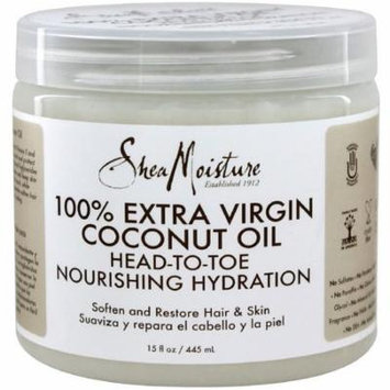 Shea Moisture 100% Extra Virgin Coconut Oil 15 oz (Pack of 2)