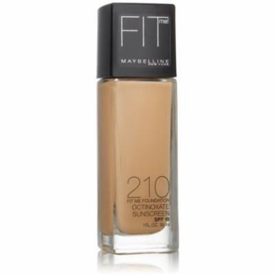 Maybelline New York Fit Me! Foundation, Sandy Beige [210] 1 oz (Pack of 2)