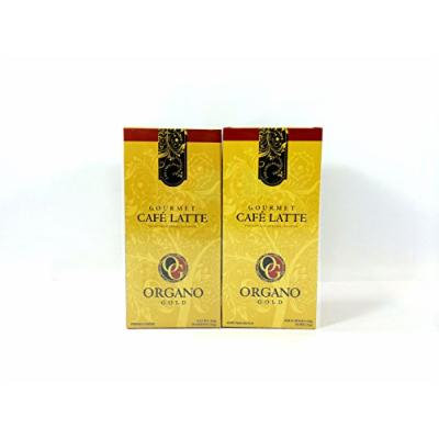 2 Boxes Organo Gold Gourmet Latte 14.8oz (1 Box of 20 Sachets)