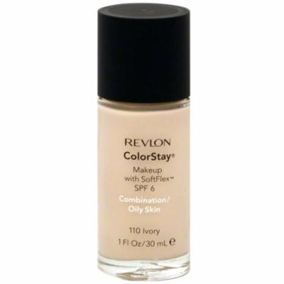 Revlon ColorStay Makeup with SoftFlex SPF6 Combination/Oily Skin [110] Ivory 1 oz (Pack of 2)