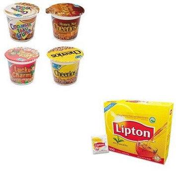 KITAVTSN13896LIP291 - Value Kit - General Mills Cheerios Breakfast Cereal (AVTSN13896) and Lipton Tea Bags (LIP291)