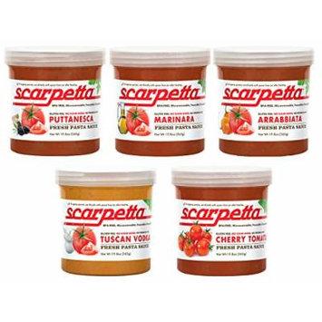 Scarpetta Pasta Sauce Variety Pack (5 Flavors), 19.8 oz, Pack of 5, Vegan Tomato Sauce Best Seller Pack