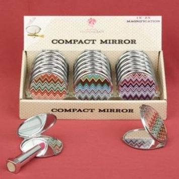 Chevron design mirror compacts pack of 36