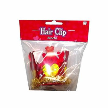 Amscan Valentine's Day Crown Hair Clip, 1 count