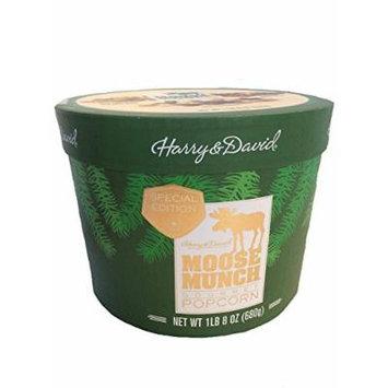 Harry & David Moose Munch Gourmet Popcorn Holiday Tub 1 lb 8 oz Milk Chocolate Caramel Apple, Dark Chocolate,Cinnamon Maple Pecan