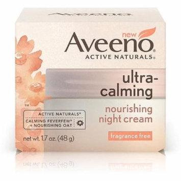 AVEENO Active Naturals Ultra-Calming Nourishing Night Cream, Fragrance Free 1.70 oz (Pack of 3)