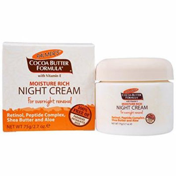 3 Pack Palmers Moisture Rich Night Cream for Overnight Renewal 2.7oz Each