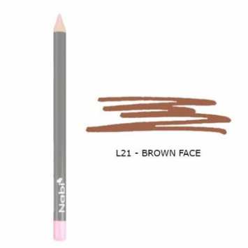 (6 Pack) Nabi Cosmetics Lip Pencil Brown Cafe