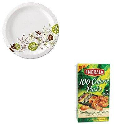 KITDFD34895DXEUX9WSPK - Value Kit - Emerald 100 Calorie Pack Dry Roasted Almonds (DFD34895) and Dixie Pathways Mediumweight Paper Plates (DXEUX9WSPK)