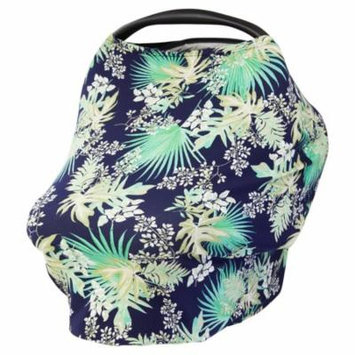 JLIKA Baby Car Seat Canopy Cover and Stretchy Nursing Cover - Tropical Leaf