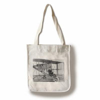 Pilot Lincoln Beachey w/ his airplane Photograph #1 (100% Cotton Tote Bag - Reusable)