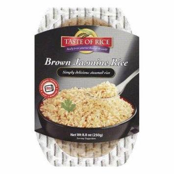 Taste of Rice Brown Jasmine Rice, 8.8 OZ (Pack of 6)