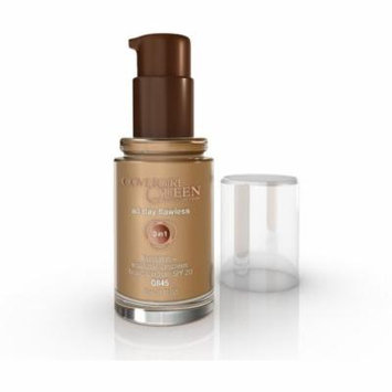 CoverGirl Queen Collection All Day Flawless Foundation, Warm Caramel [Q845] 1 oz (Pack of 2)