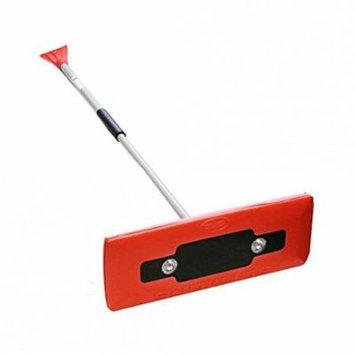 Snow Joe PRO LED lighted 4-in-1 Snow Broom + Ice Scraper (Red) - Refurbished