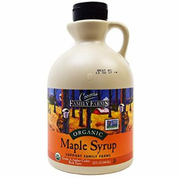 Coombs Family Farms, Organic Maple Syrup, Grade A, Amber Color, Rich Taste, 32 FL OZ (946 ml), Non GMO, Frustration Free Packaging (Bubbles)