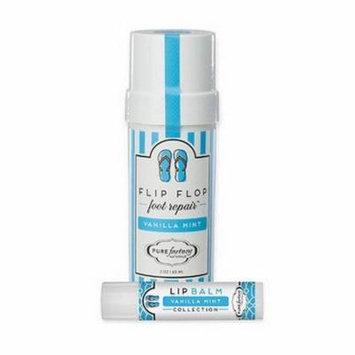 Pure Factory Flip Lip Combo Foot Repair Lip Balm Vanilla Mint 2oz Moisturizer
