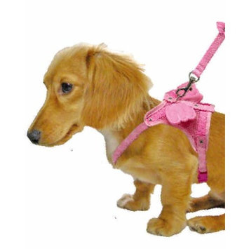 Optodigital Stylish Harness Set with Leash for Dogs, Angel Wings, Small, Pink