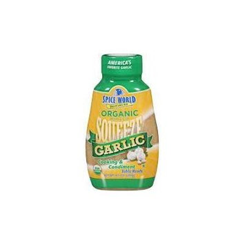 Spice World Organic Squeeze Garlic 20 Oz (Pack of 4)