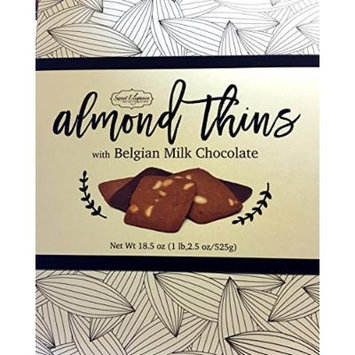 Sweet Elegance Almond Thins Cookies with Belgian Milk Chocolate Box - 18.5 Oz