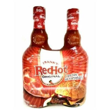 Frank's Red Hot Sauce Glass Bottle, Original Cayenne 2 pack 23oz Each