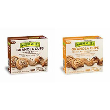 Nature Valley Peak Ed PEANUT BUTTER CHOCOLATE & ALMOND BUTTER GRANOLA CUPS, 5 COUNT (PACK OF 4)