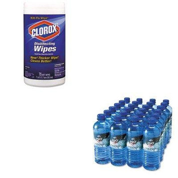 KITCOX01761EAOFX00024 - Value Kit - Office Snax Bottled Spring Water (OFX00024) and Clorox Disinfecting Wipes (COX01761EA)