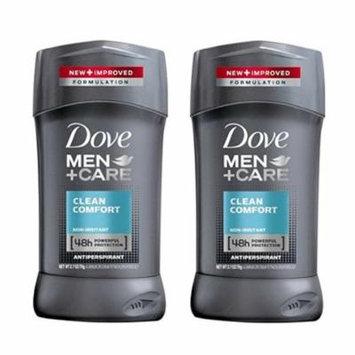 2 Pack Dove Men+Care Clean Comfort Antiperspirant 2.7 Oz Each