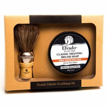 Elvado Classic Shave Kit West Indies Bay Rum Soap & Shave Brush