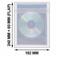 CheckOutStore 1000 OPP Plastic Wrap Bag for DVD Case 57mm