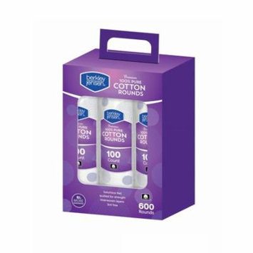 Berkley & Jensen Premium 100% Pure Cotton Rounds - 600 Ct.