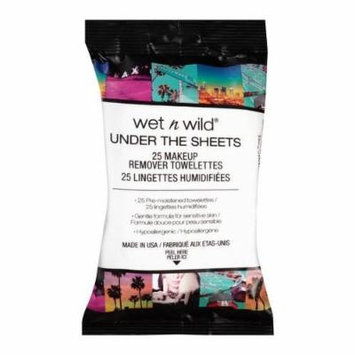 (6 Pack) WET N WILD Under the Sheets Makeup Remover Wipes - 25 Towelettes