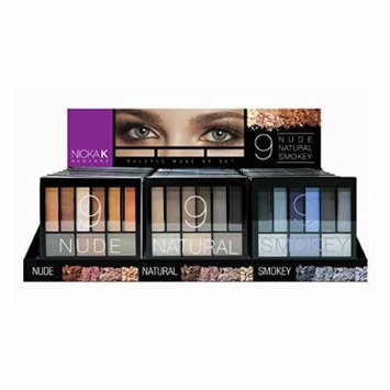 NICKA K Perfect 9 Eyeshadow Palette Display Set 24 pieces
