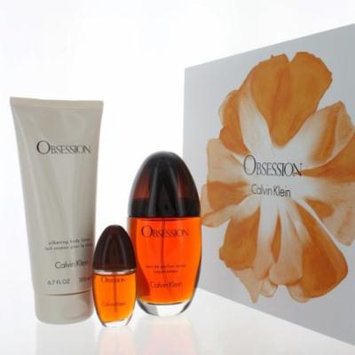 OBSESSION WOMEN 3 PIECE GIFT SET - 3.4 OZ EAU DE PARFUM SPRAY by CALVIN KLEIN