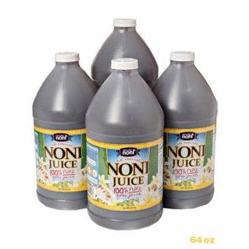 4 x 64oz 100% Pure Hawaiian Noni Fruit Juice
