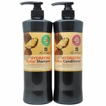 Lorenzo Hydrating Butter Shampoo & Conditioner 1000 ml Duo with Shea Butter