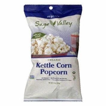 Sage Valley Kettle Corn Organic Popcorn, 6 Oz (Pack of 12)
