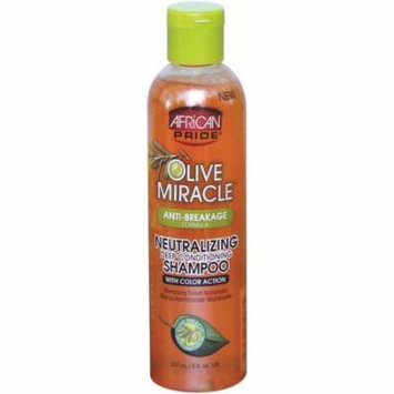African Pride Olive Miracle Neutralizing Deep Conditioning Shampoo 8 oz (Pack of 2)